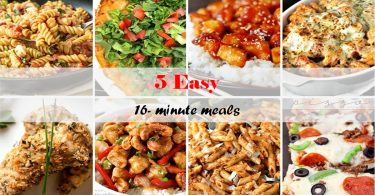 5 Easy 16-Minutes Meals