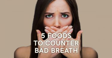 5 foods to counter bad breath