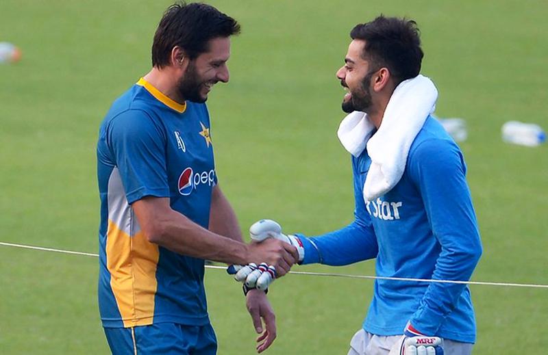 Shahid Afridi and Virat