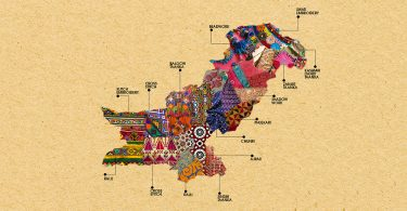 Generation made a map of pakistan highlighting textile products