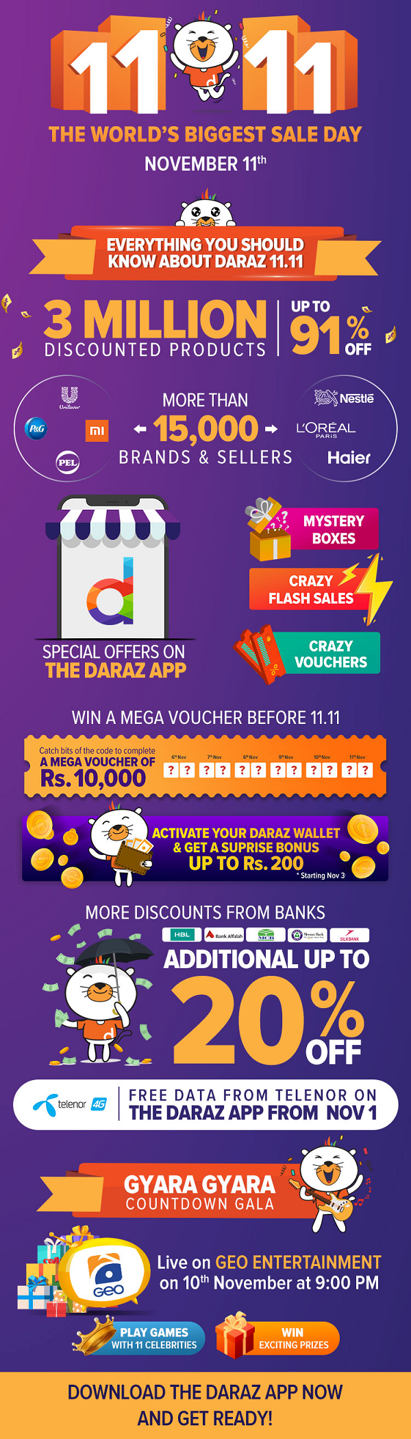 8 days till DARAZ 11.11 sale and how to make the most of it