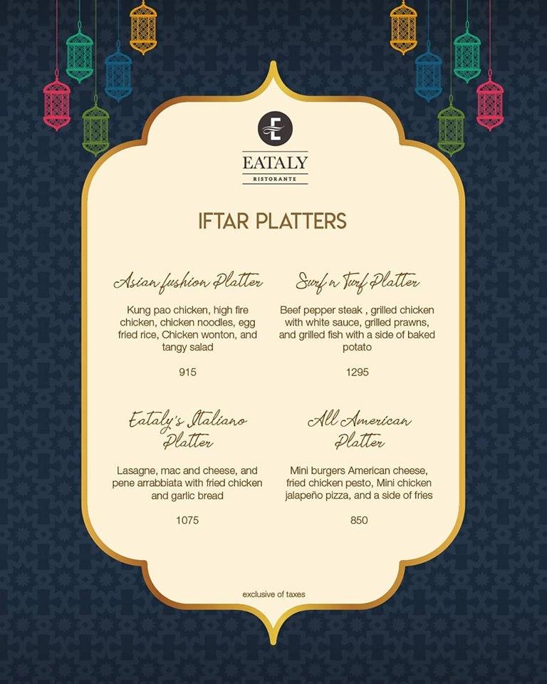 Eataly Ristorante ramadan deals
