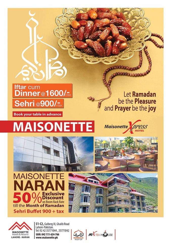Maisonette Lahore ramadan deals